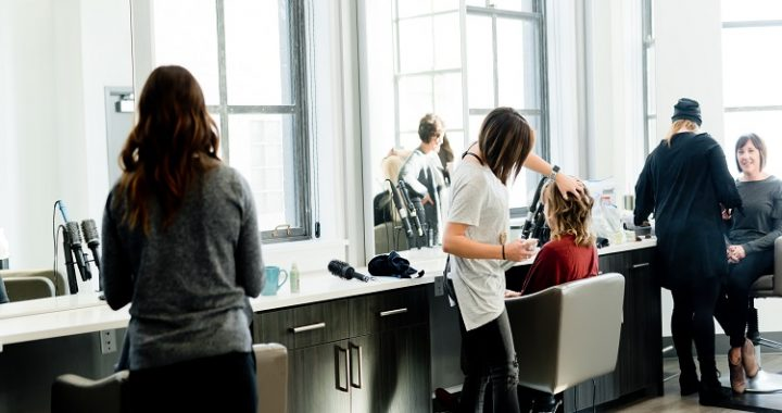 Day of the hair work at hair salon Hairtrends